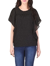 black printed casual top -  online shopping for Tops