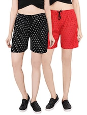 multi colored cotton shorts combo -  online shopping for Shorts