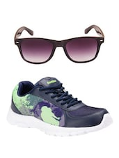 Sunglasses with blue lace up sport shoe -  online shopping for Sport Shoes