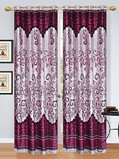 Stella Creations Polyester Wine Designer Eyelet Door Curtains (4x7 Feet) -Set Of 2 - By