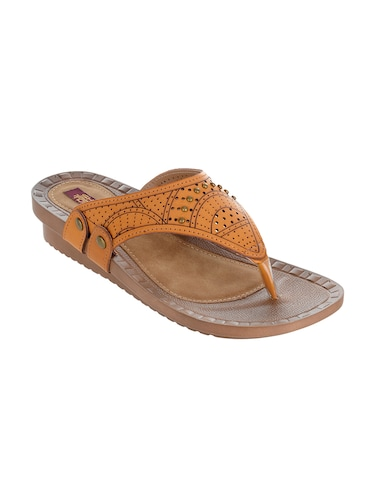 2fa14b0ad Buy Tan Fabric Open Thong Sandals by Shuz Touch - Online shopping ...