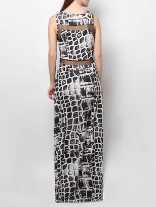 c47dd40c67 black printed poly crepe maxi dress - 13809095 - Standard Image - 2 ...