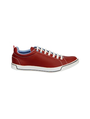 9569553817b Buy Maroon Leatherette Lace Up Sneaker for Men from Fausto for ₹699 at 0%  off
