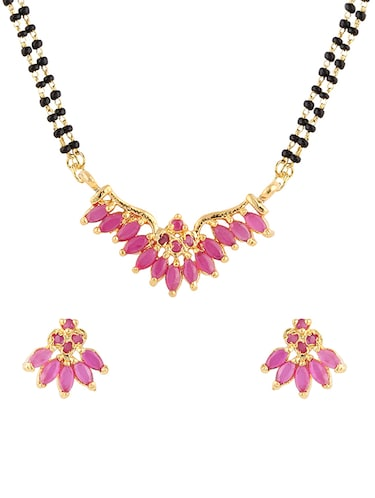 d39f3294a Buy White And Pink Necklace Set for Women from Zaveri Pearls for ...