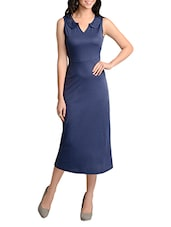 dark blue midi dress -  online shopping for Dresses