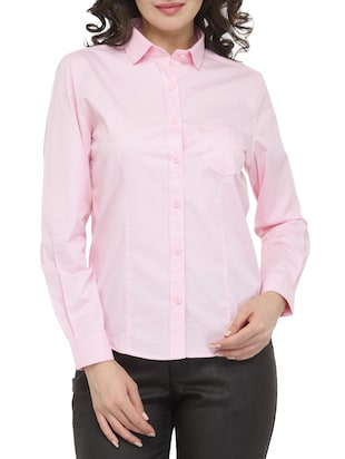 pink cotton shirt -  online shopping for Shirts