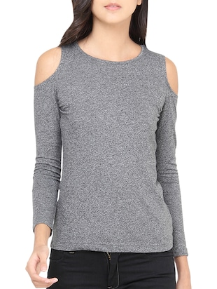 grey poly cotton top
