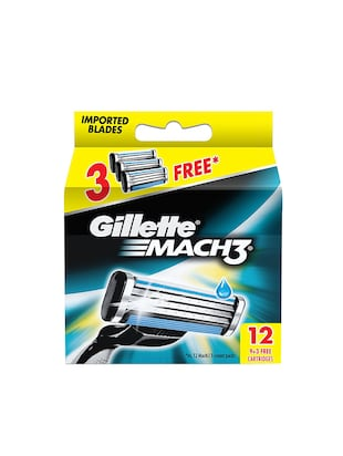 Gillette Mach 3 - 12 Cartridges Pack -  online shopping for Bath & Body