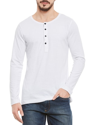 solid white cotton t-shirt