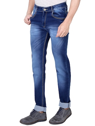 blue denim heavy washed jeans - 13877711 - Standard Image - 2