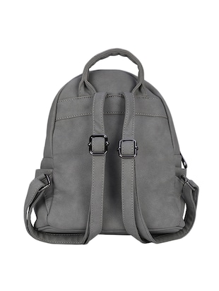 87c35f941d Buy Grey Leatherette Regular Backpack by Busta - Online shopping for  Backpacks in India