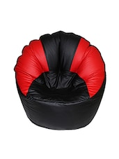 Black Red Leatherette Modha Chair Bean Bag