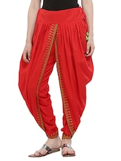 KAANCHIE NANGGIA red cotton dhoti salwar -  online shopping for Salwars