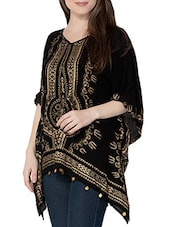 printed black rayon kaftan -  online shopping for Kaftans