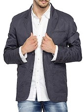 grey cotton casual blazer -  online shopping for Casual Blazer