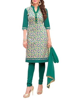 multi cotton churidaar suits unstitched suit
