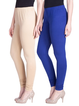 set of 2 multicolored cotton spandex leggings - 13934650 - Standard Image - 2