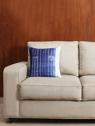 House This The Faded Diamond 100% Cotton Single Cushion Cover
