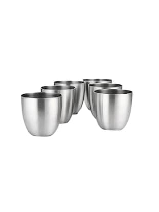 Tallboy Stainless Steel Set Of 6 Glass