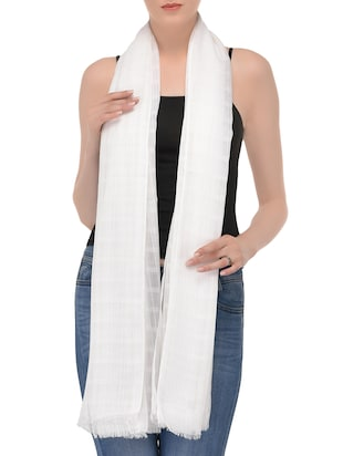 white viscose scarf -  online shopping for Scarves