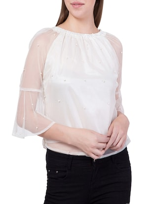 white net regular top