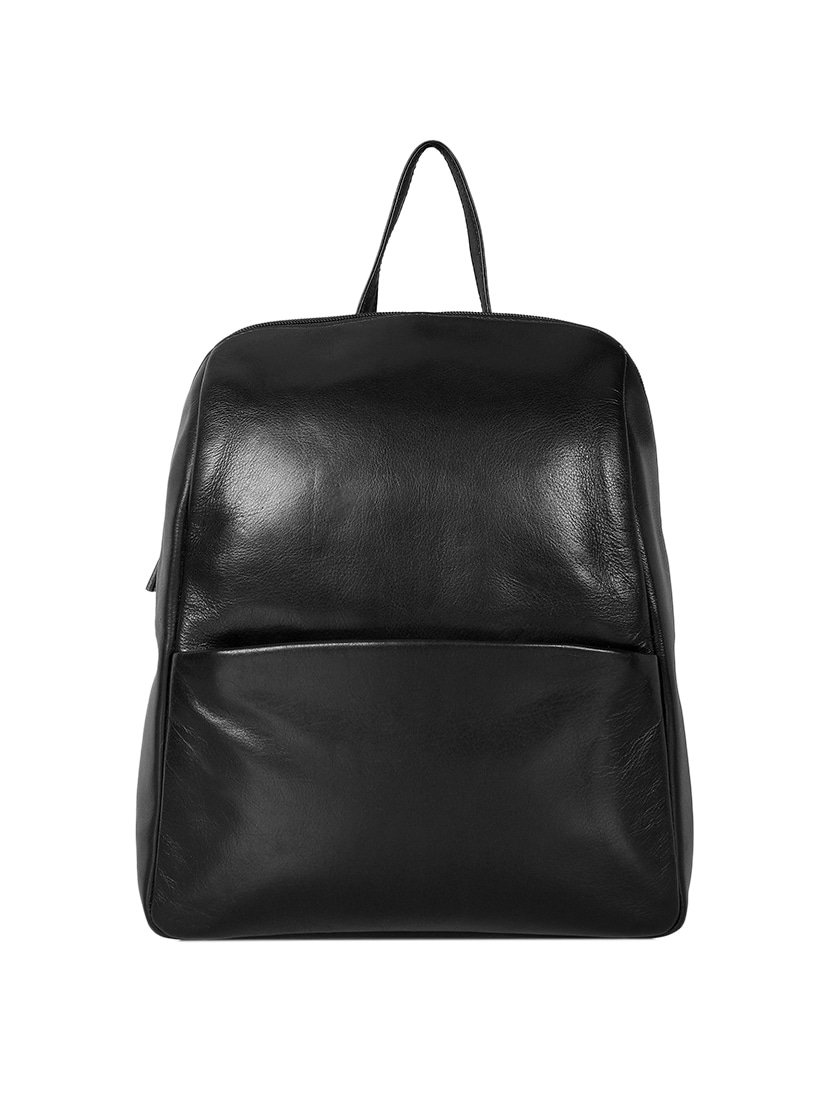 bbe91113f4f2 Buy Black Leather Backpack by Leather Zentrum - Online shopping for ...