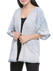 light blue cotton shrug -  online shopping for Shrugs