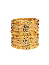 Gold Tone Bangles - By