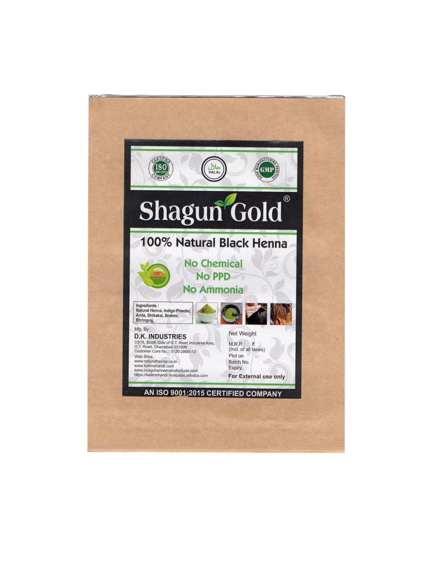Shagun Gold 100% Natural Black Henna ( Chemical Free ) 200g X 2 - By