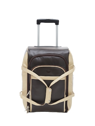 brown leatherette trolleybag -  online shopping for trolleybag