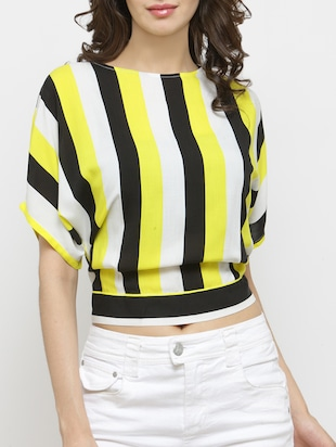 yellow viscose crop top