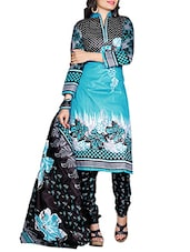 sky blue cotton churidaar suits dress material -  online shopping for Dress Material
