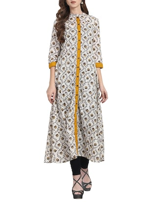 white cotton aline kurta