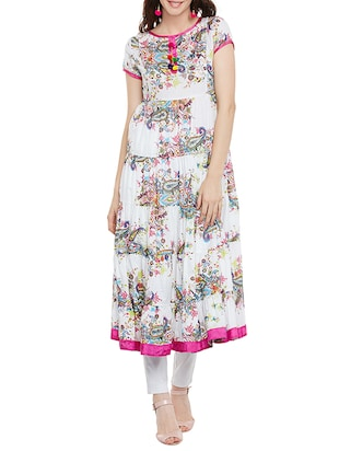 multicolored cotton tiered kurta