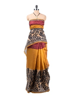 Bangalore Printed Silk Saree - Saboo