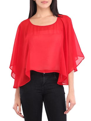 red georgette cape -  online shopping for Capes