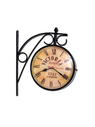 Vintage Staion Metal Wall Clock By Home Sparkle