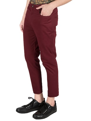 red cotton chinos - 14097711 - Standard Image - 2