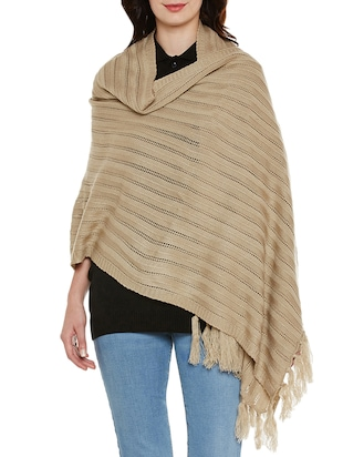 beige wool stole -  online shopping for stoles