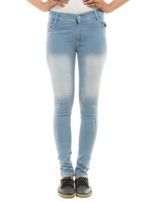 light blue denim jean