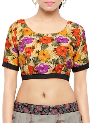multicolour cotton printed blouse