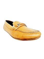 tan Leather slip on loafer -  online shopping for Loafers