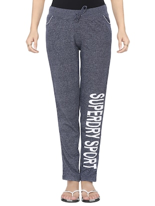 grey solid track pant