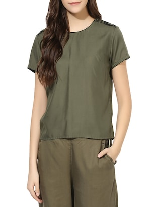 love generation olive cotton top