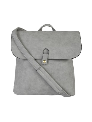 grey leatherette  regular backpack