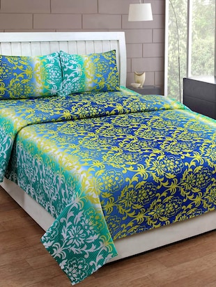 100% Cotton Double Bed sheet with 2 Pillow Cover