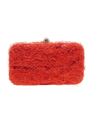 red leatherette  regular clutch - 14159531 - Standard Image - 2