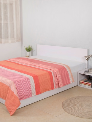 The Cane Basketry Cotton Double Duvet Cover - Red -  online shopping for Quilt Covers