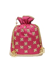 pink silk potli -  online shopping for Potlis