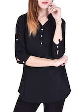 solid black cotton shirt -  online shopping for Shirts
